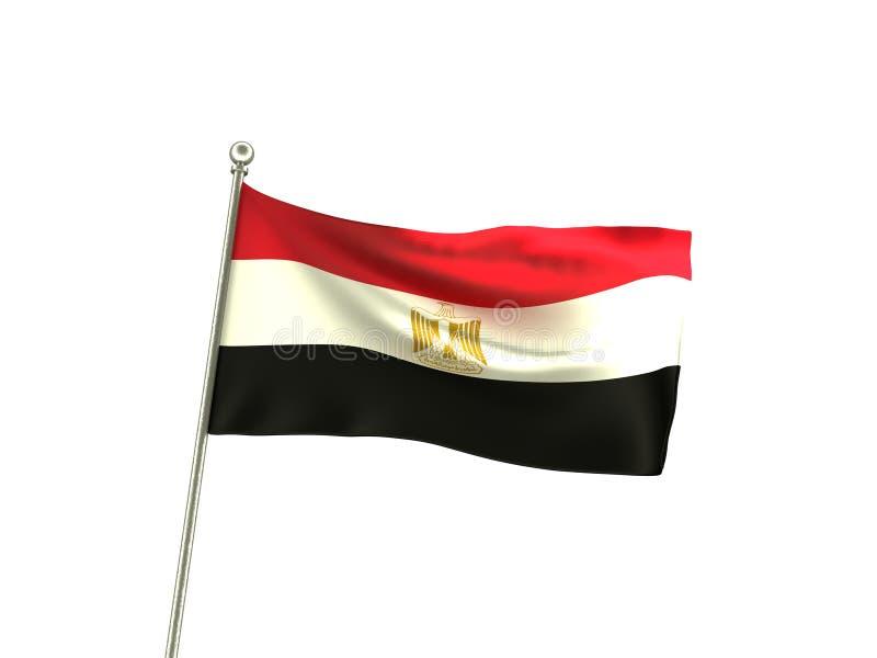 Волнистый флаг Египта иллюстрация вектора