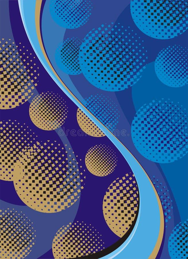 волны золота шариков голубые стоковое фото