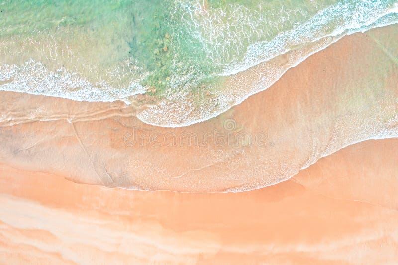 Волны и картины песка стоковое фото