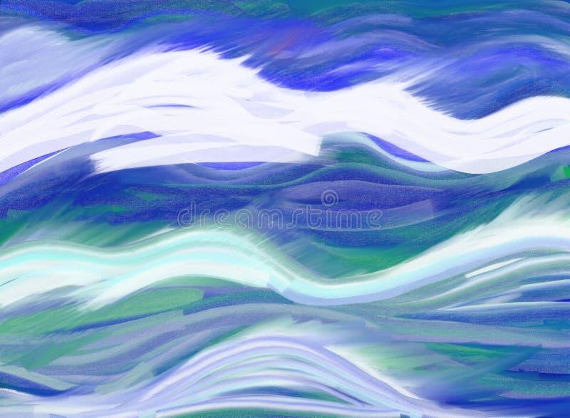 волны конспекта иллюстрация вектора