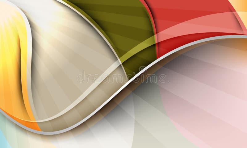волны конструкции предпосылки multicolor иллюстрация вектора