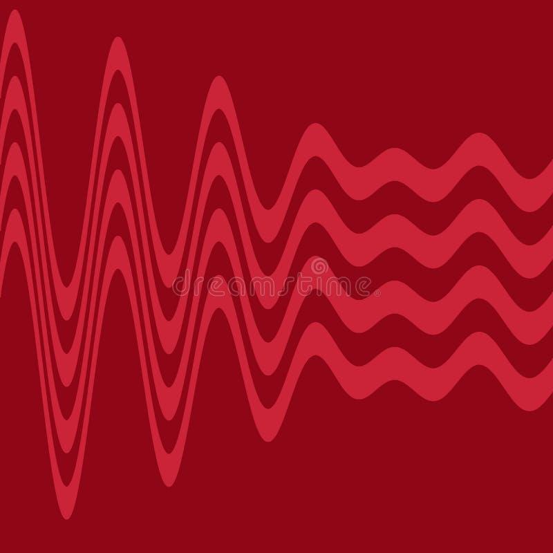 волны красного цвета иллюстрация штока
