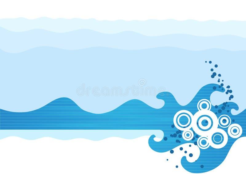 Download волны моря иллюстрация вектора. иллюстрации насчитывающей конструкция - 6854520