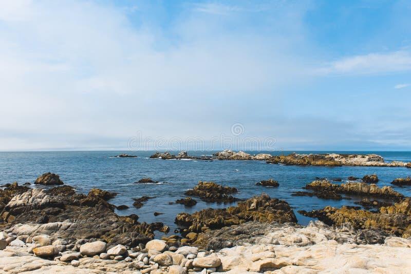 Волны на скалистом пляже стоковое изображение