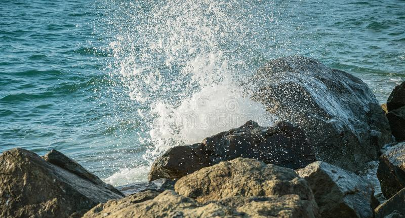 Волны на seashore стоковая фотография