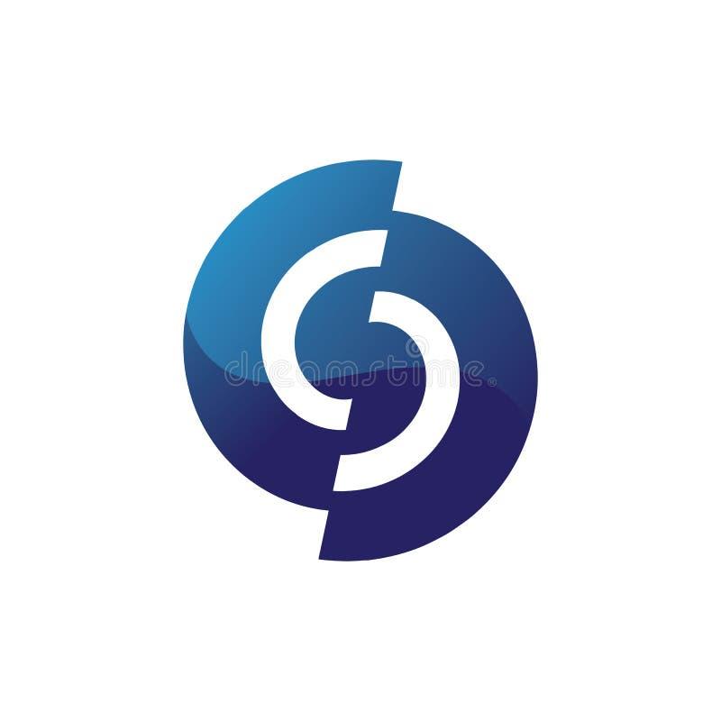 Волны приставают голубое приложение к берегу значков шаблона логотипа и символов иллюстрация вектора