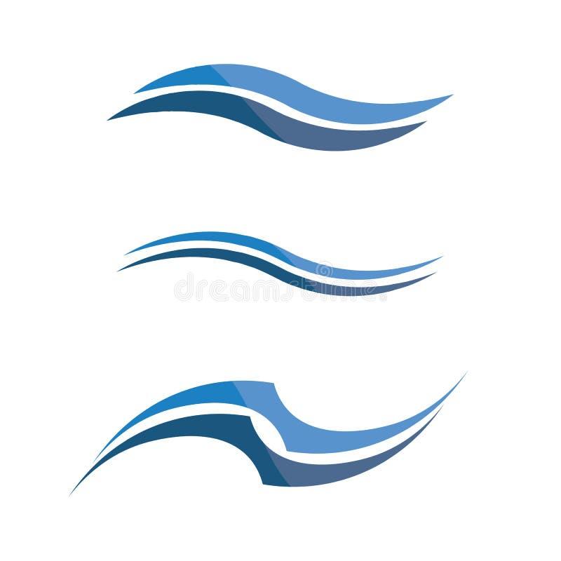 Волны приставают голубое приложение к берегу значков шаблона логотипа и символов бесплатная иллюстрация