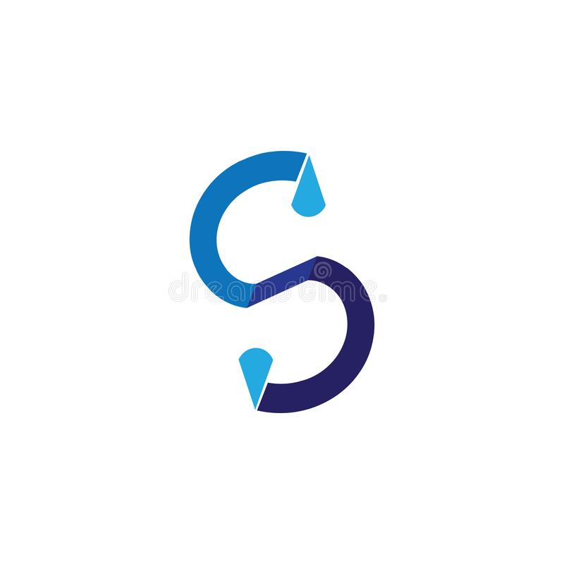 Волны приставают голубое приложение к берегу значков шаблона логотипа и символов иллюстрация штока
