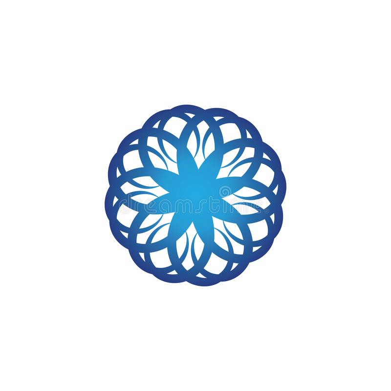 Волны приставают логотип и голубое приложение к берегу значков шаблона символов бесплатная иллюстрация
