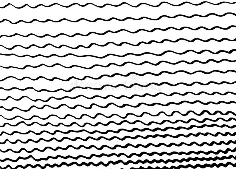 Волны руки вычерченные черные на белой предпосылке стоковые изображения