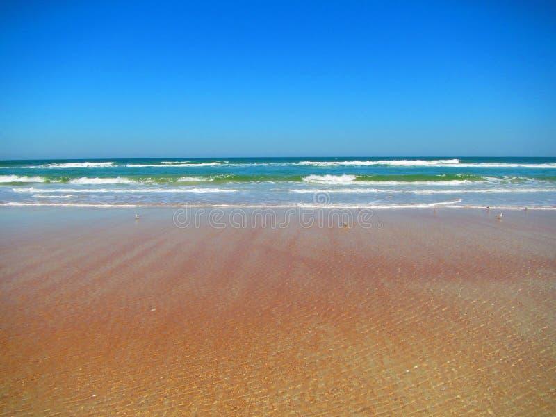 Волны свертывая в Daytona Beach, Флориде стоковая фотография rf