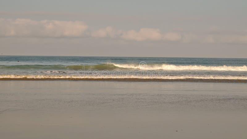 Волны Тихого океана разбивая вдоль пляжа стоковые фотографии rf