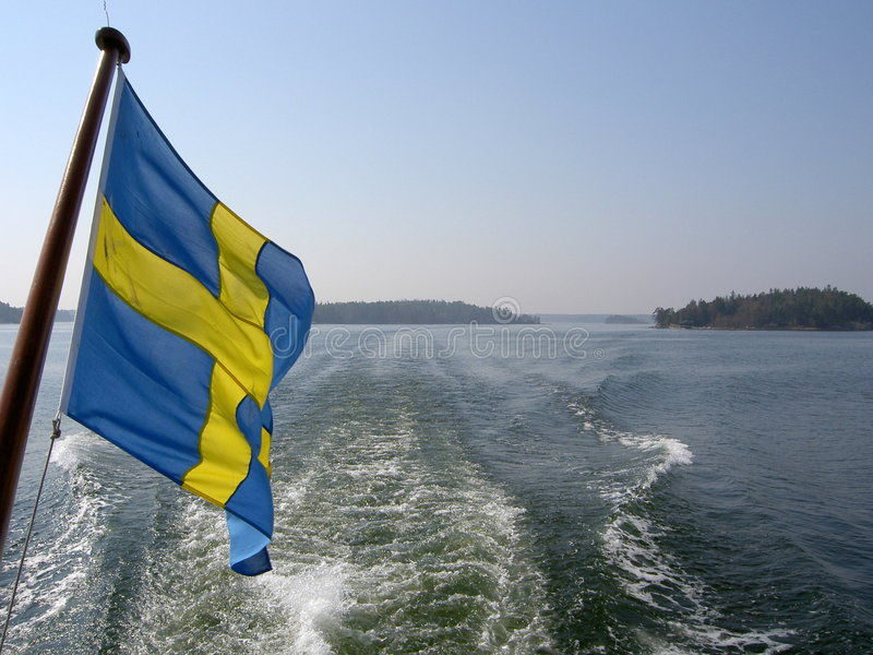 волны флага архипелага стоковое фото rf
