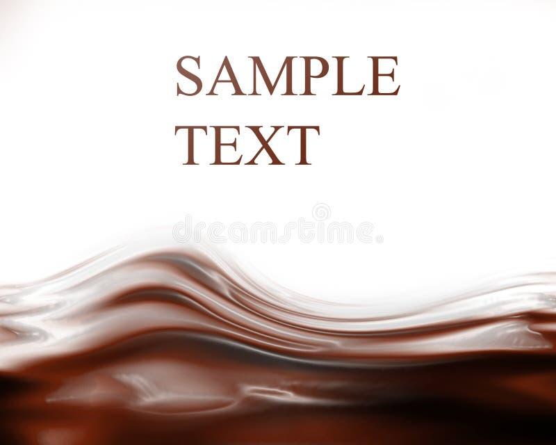 Волны шоколада иллюстрация вектора