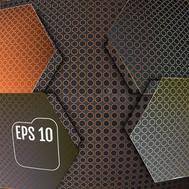 Волокно углерода абстрактной предпосылки современное, иллюстрация вектора бесплатная иллюстрация