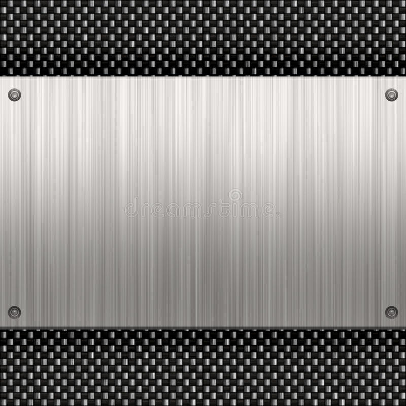 волокно углерода металлопластинчатое иллюстрация штока