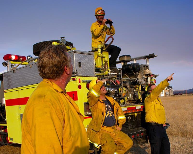 волонтер пожарного стоковое изображение rf