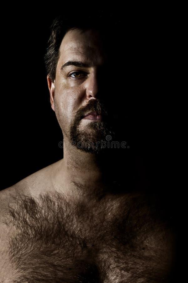 волосатый человек стоковое фото