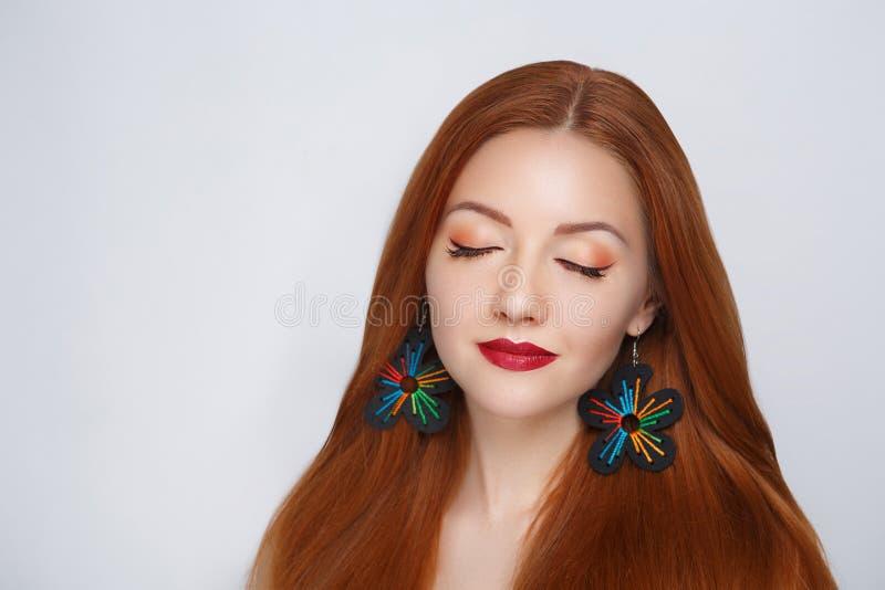 Волосы апельсина женщины стоковое изображение