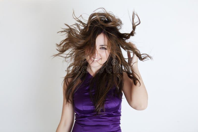 волосы ветреные стоковые фото