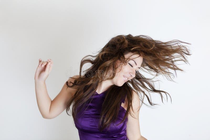 волосы ветреные стоковая фотография