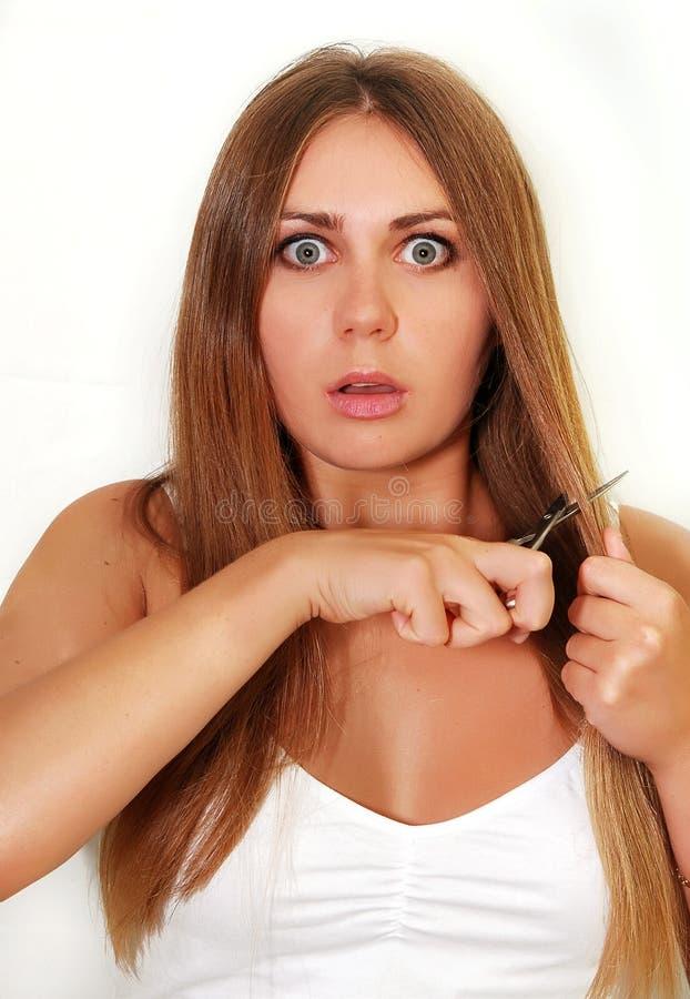 волосы вырезывания стоковое изображение