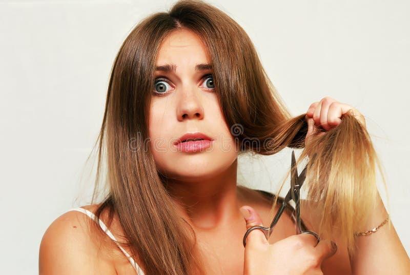 волосы вырезывания стоковое изображение rf
