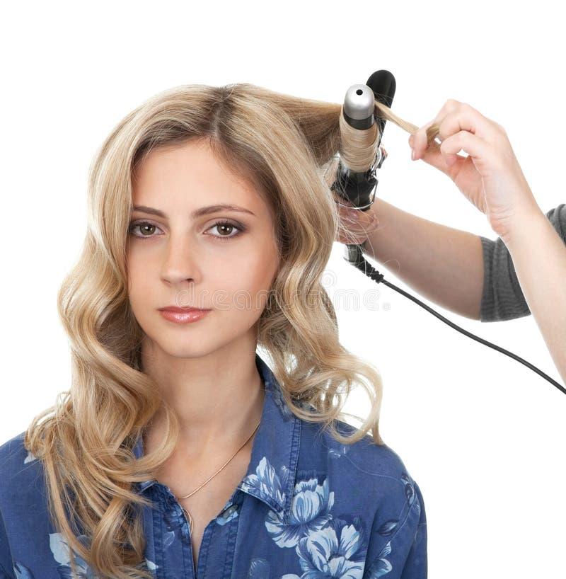 волосы делают мастерский развевали тип, котор стоковые изображения rf