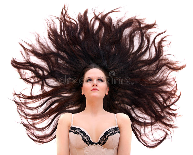 волосы длиной стоковое фото