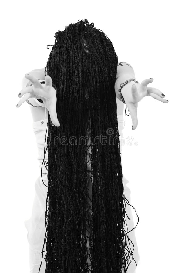 волосы длиной стоковые фотографии rf