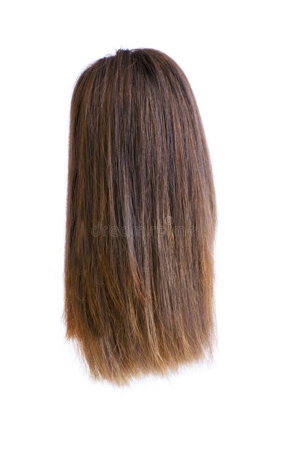 волосы изолировали парик стоковые изображения
