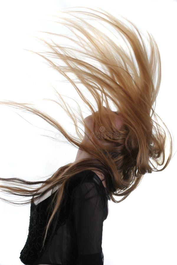 волосы летания стоковое фото