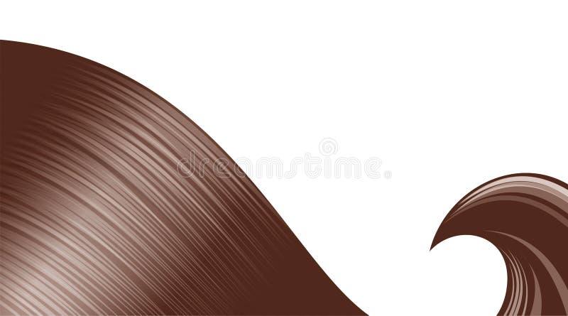 волосы скручиваемости иллюстрация вектора