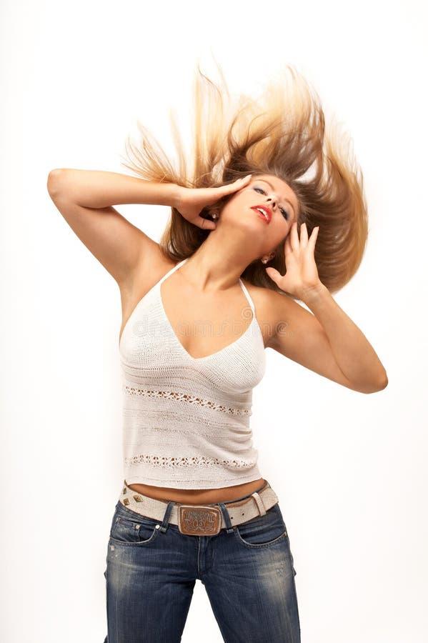 волосы трястиют вверх стоковые фото