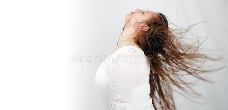 волосы 2 танцек стоковое изображение rf