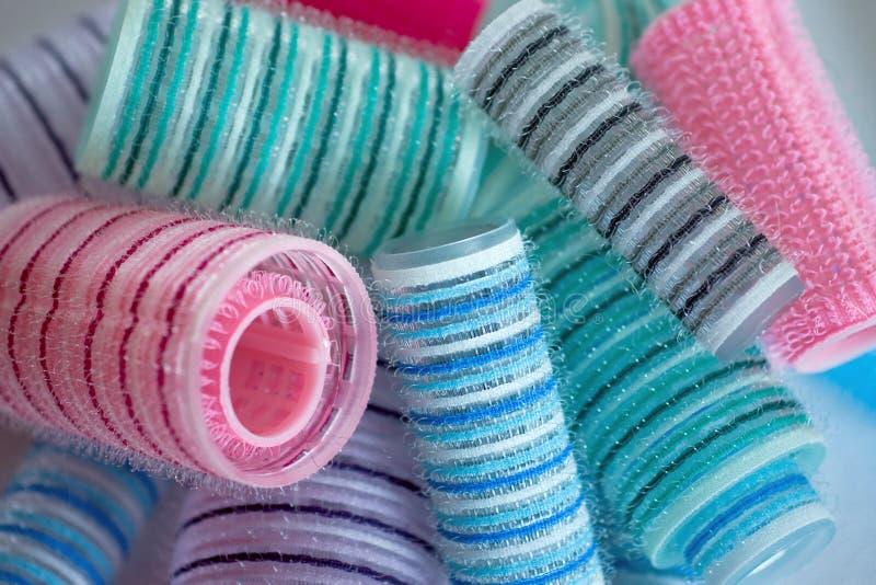 волосы curlers стоковое фото