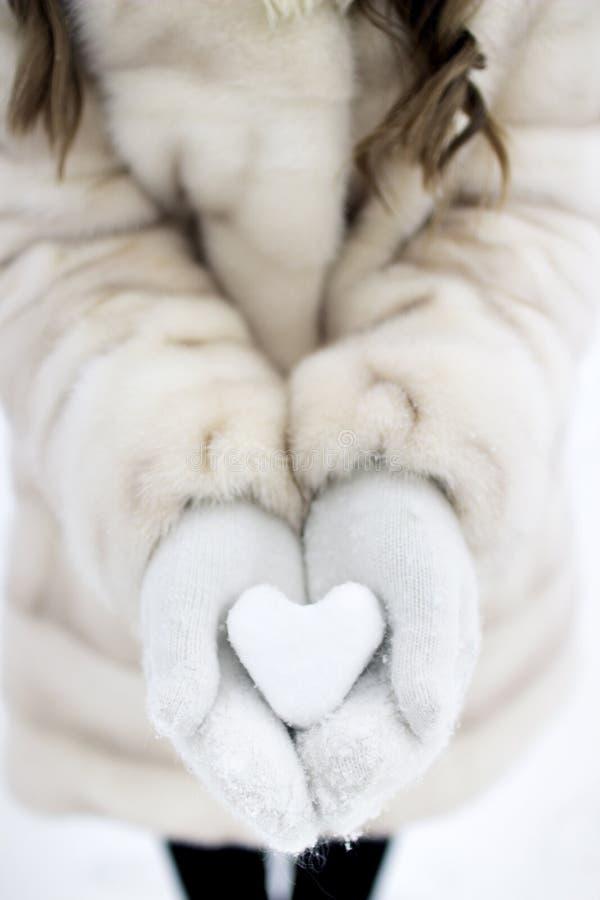 Волшебная влюбленность от снега стоковое фото rf