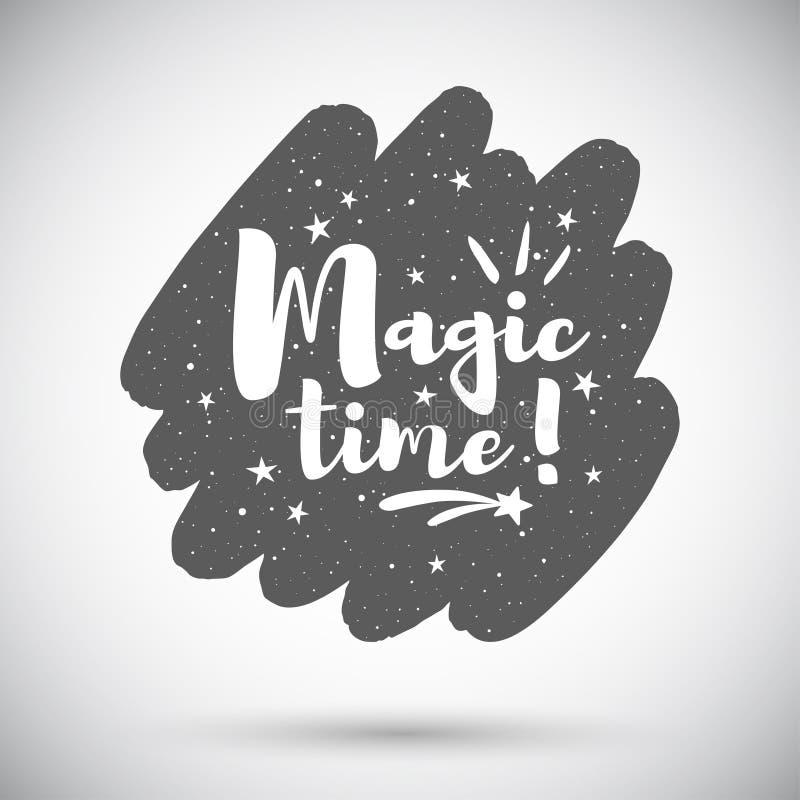 Волшебная иллюстрация праздника времени, округлила предпосылку формы хода щетки иллюстрация вектора