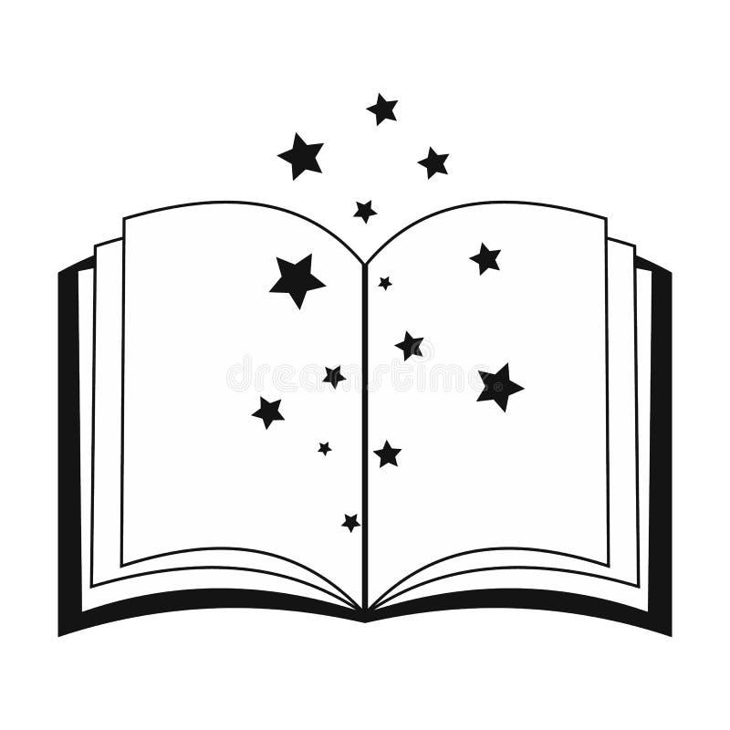 Волшебная книга произношений по буквам раскрывает бесплатная иллюстрация