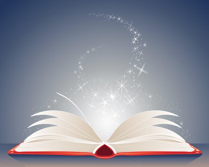Волшебная книга иллюстрация штока