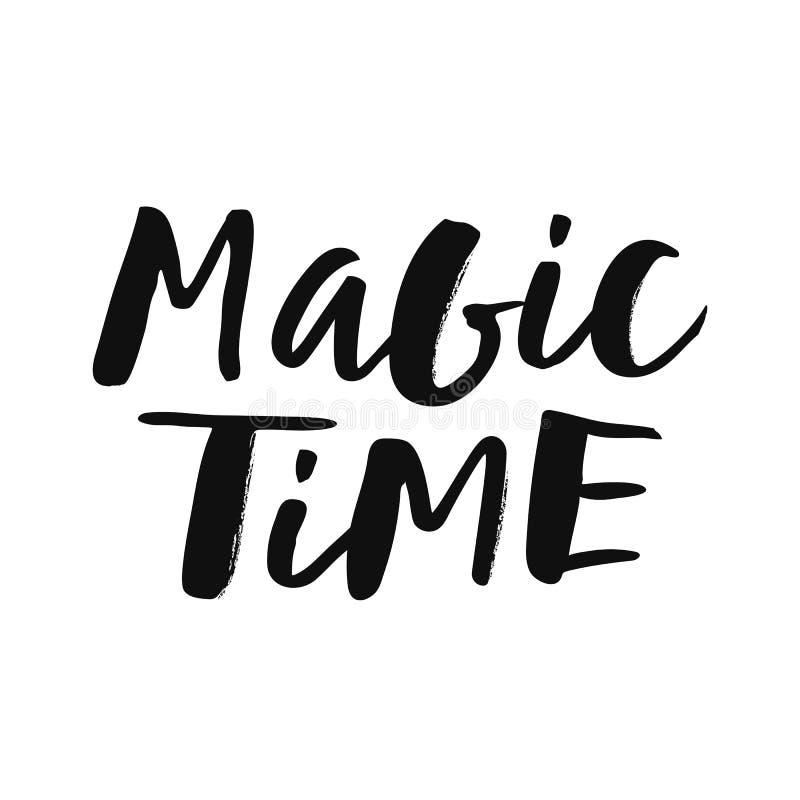 Волшебная литерность руки времени иллюстрация штока
