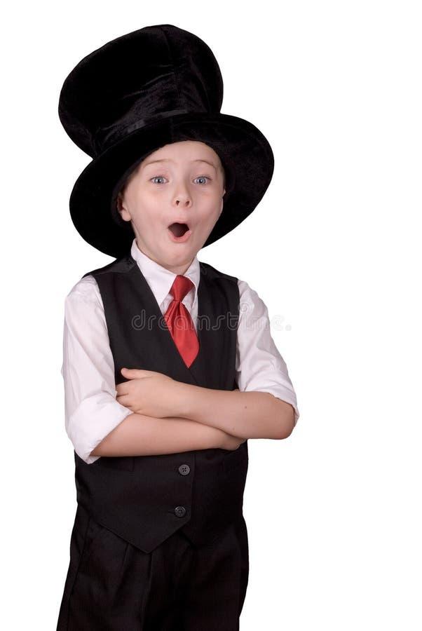 волшебник ребенка стоковая фотография rf