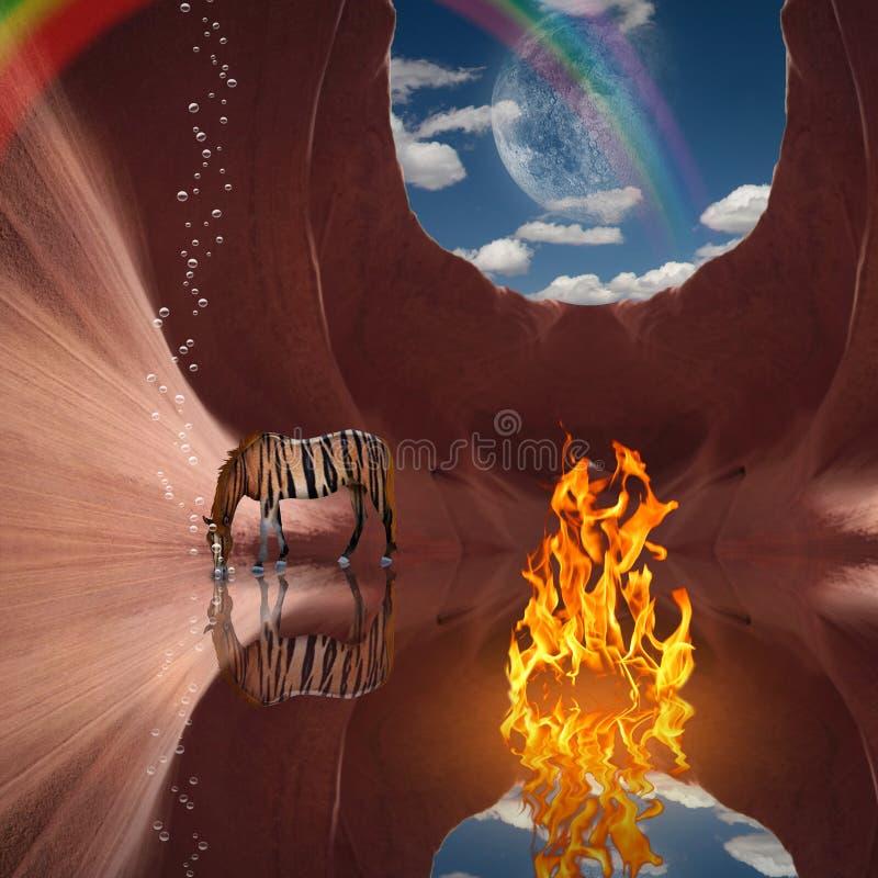 Волшебное пламя стоковая фотография