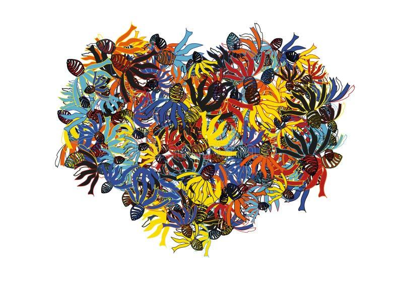Волшебное сердце цветка бесплатная иллюстрация