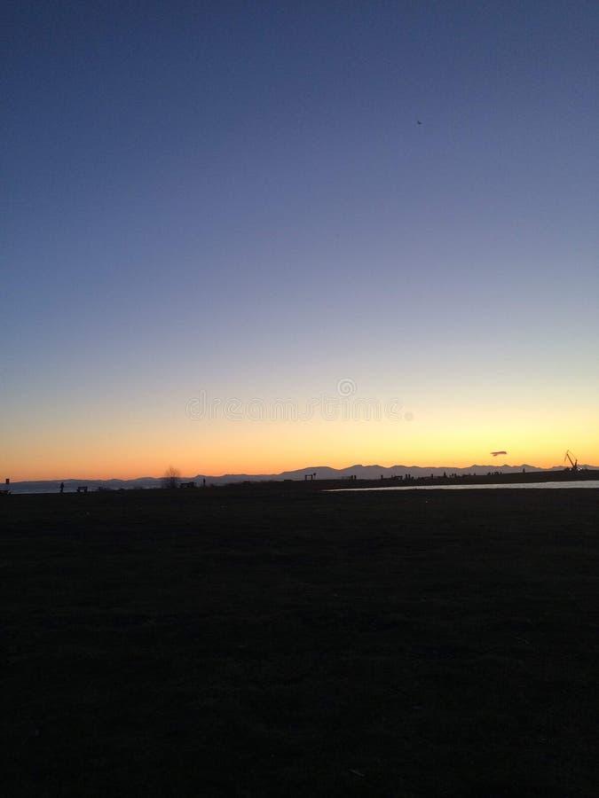 Волшебное утро в парке Стэнли, Ванкувер стоковое фото rf