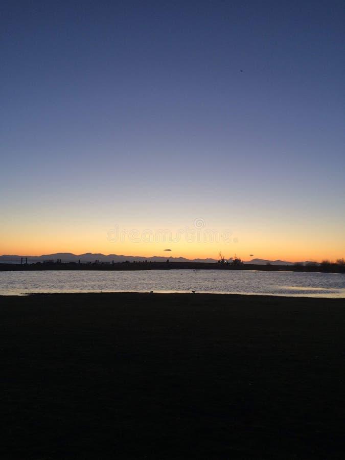 Волшебное утро в парке Стэнли, Ванкувер стоковые фото