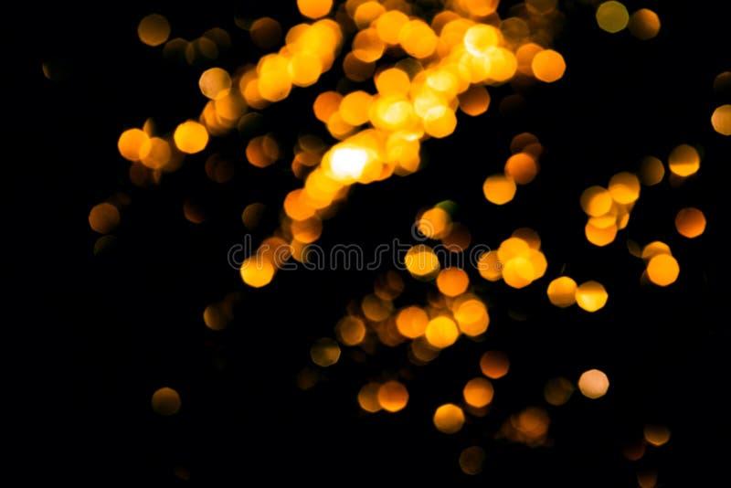 Волшебное bokeh рождества светов на черной предпосылке стоковая фотография rf