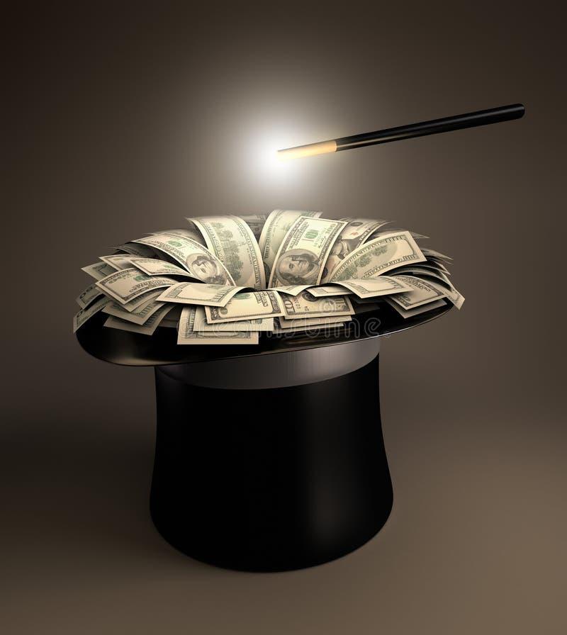волшебные деньги иллюстрация штока