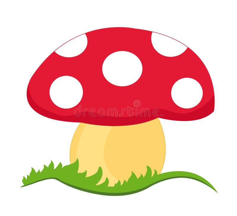 волшебный гриб иллюстрация штока