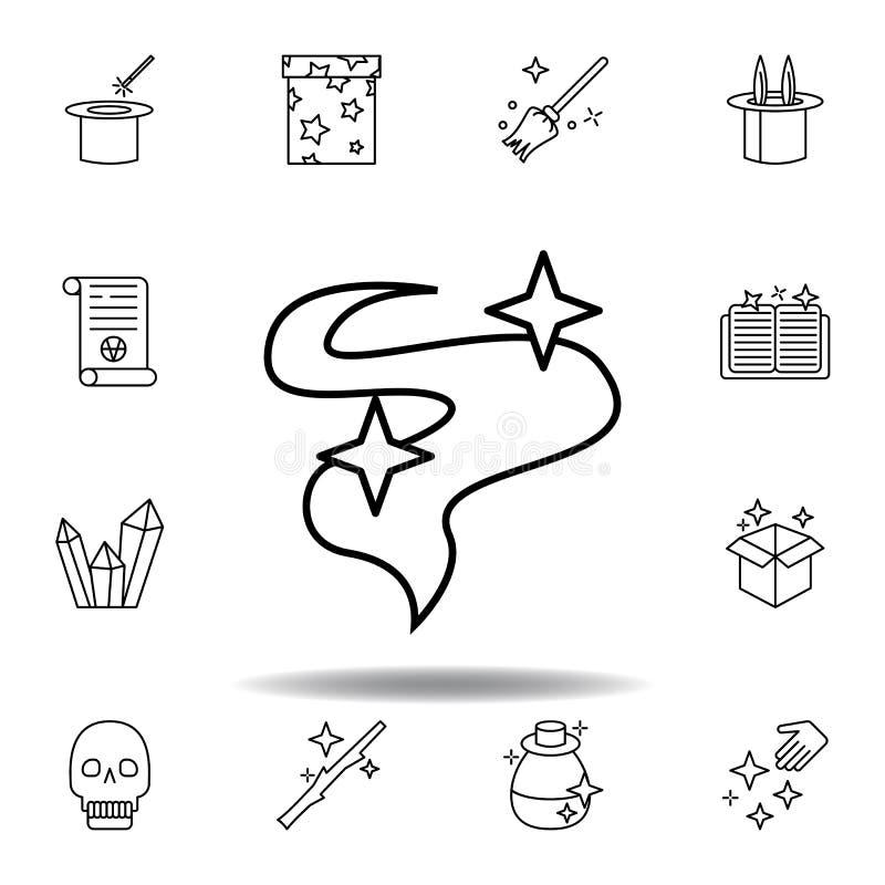 волшебный значок плана дыма элементы волшебной линии значка иллюстрации знаки, символы можно использовать для сети, логотипа, моб бесплатная иллюстрация